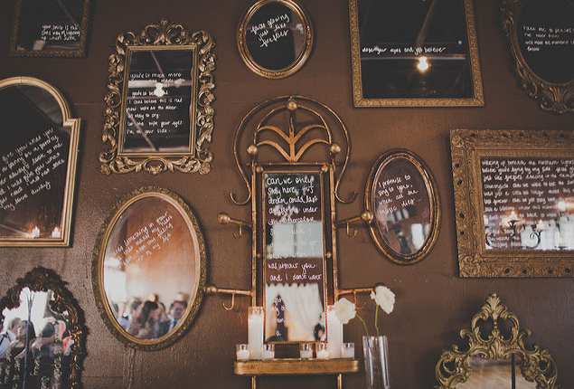 Cape Town Wedding Mirror Writing