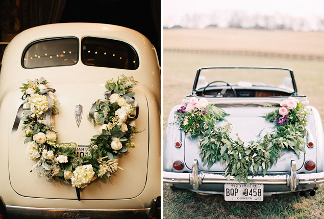Just married wedding car decor ideas you 39 ll love cape for Just married dekoration